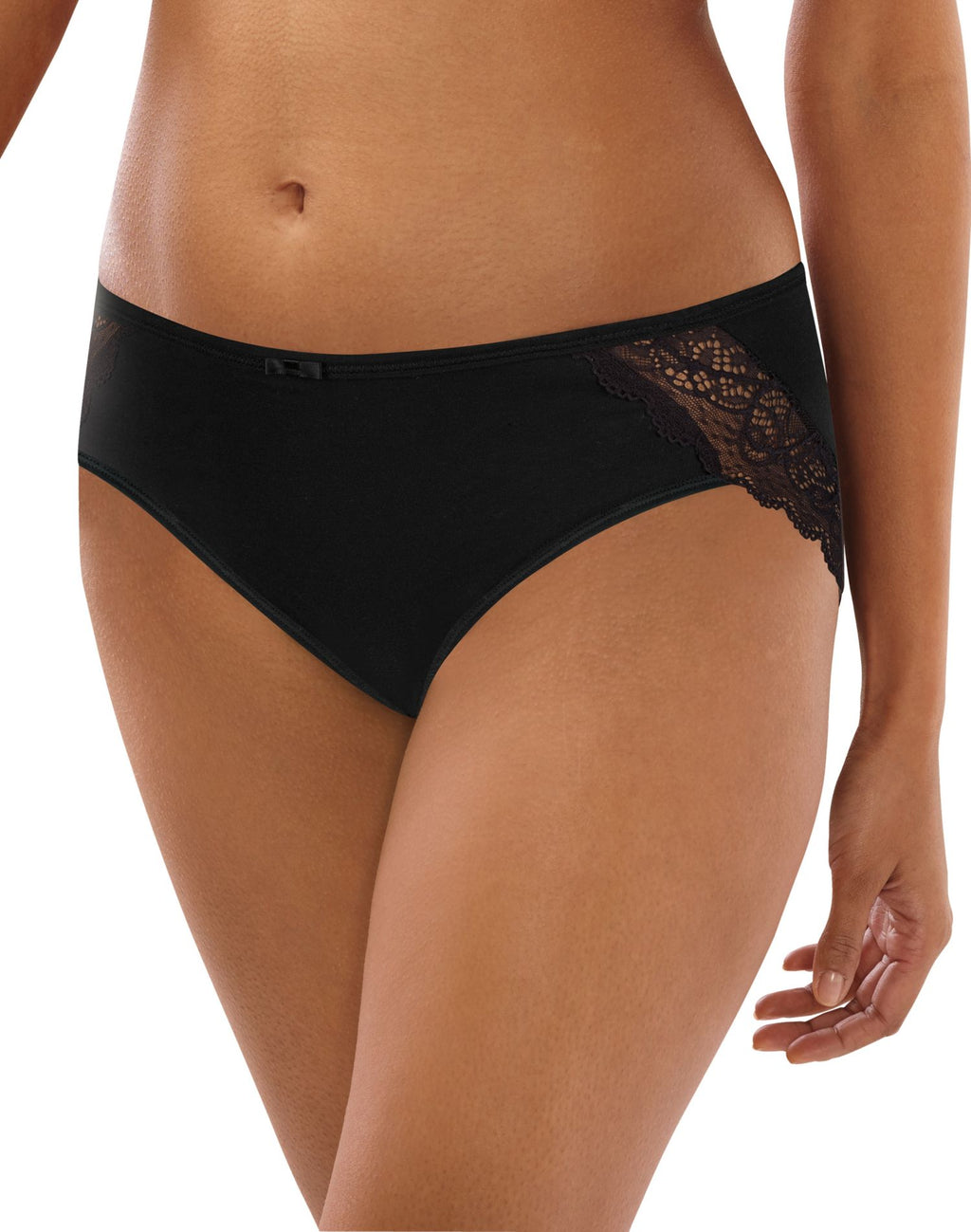 Bali Womens Lace Desire Cotton Hipster Panty