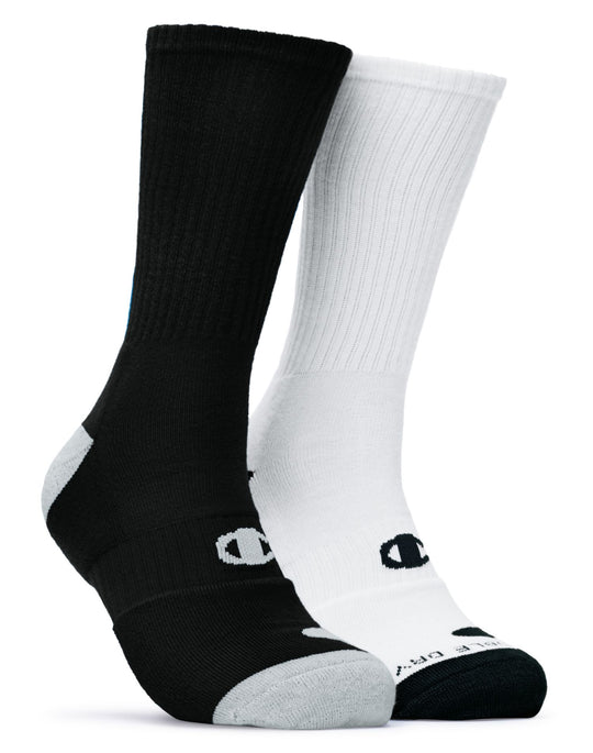 Champion Men's Basketball Crew Socks 2 Pairs