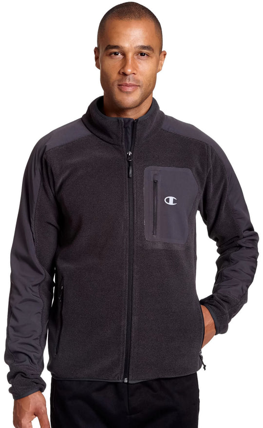 Champion Mens Textured Fleece w/Water Repellent Overlay