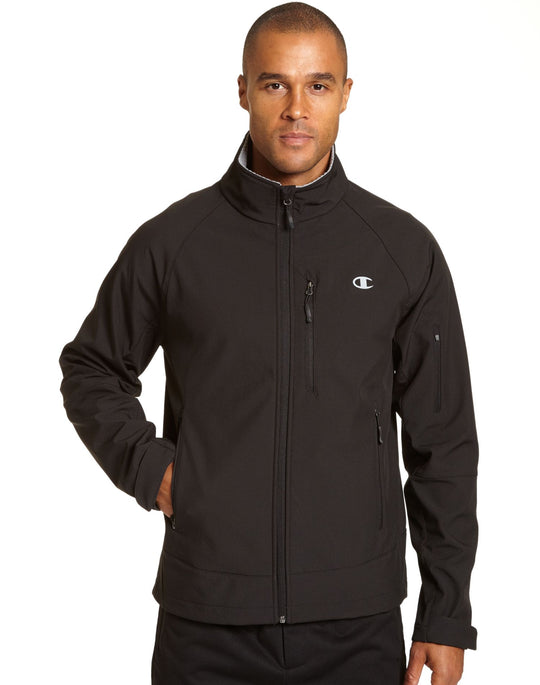 Champion Mens Softshell Jacket With Quilted Synthetic Down