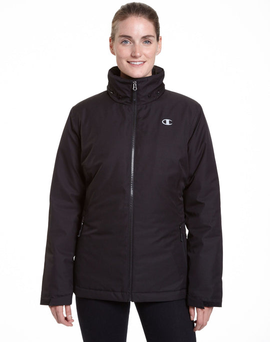 Champion Women`s Technical Heather 3-in-1 Jacket With Microfleece Liner