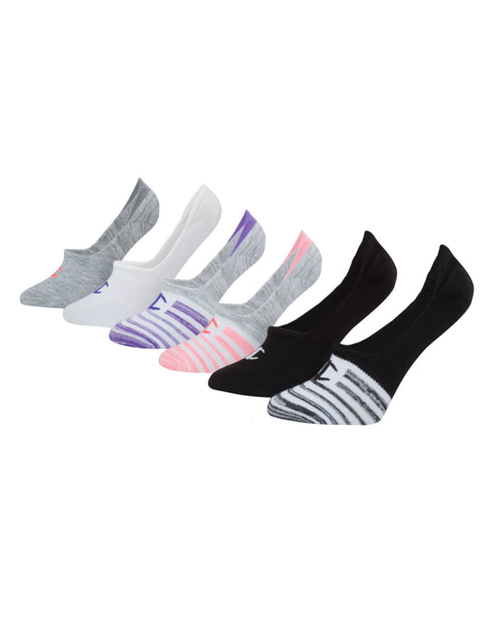 Champion Womens Performance Invisible Liner Socks 6-Pack
