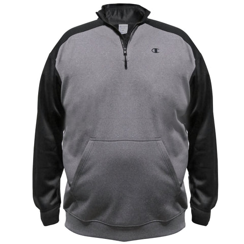 Champion Mens Big & Tall Performance Pieced 1/4 Zip
