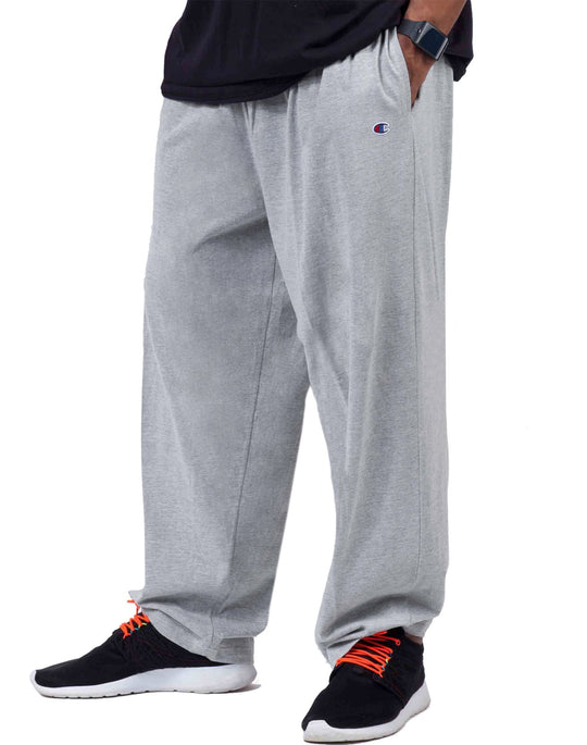 Champion Big & Tall Men`s Jersey Pants with Elastic Bottom