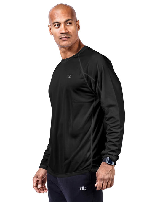 Champion Mens Vapor Big & Tall Long-Sleeve Tee