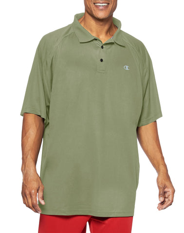 Champion Big & Tall Men`s Performance Birdseye Polo