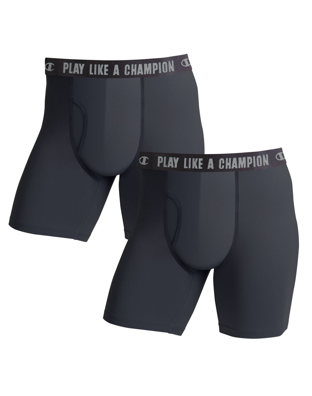 Champion Mens Ultra Lightweight 2-Pack Regular Leg Boxer Brief