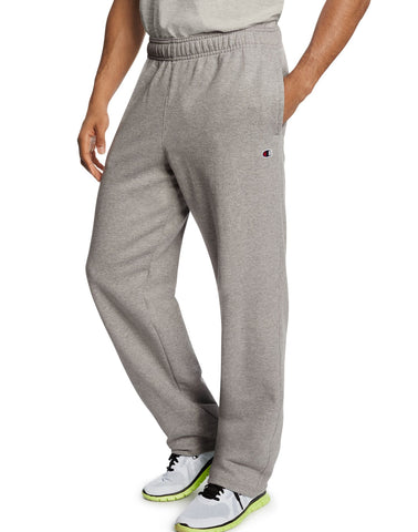 Champion Men`s Powerblend Fleece Open Bottom Pants