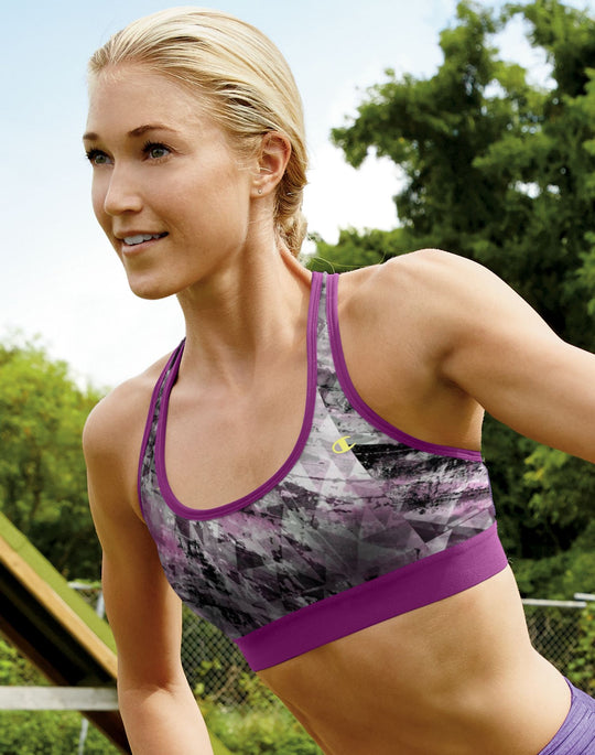 Champion Women's Double Dry Absolute Workout II Sports Bra - Fashion Prints