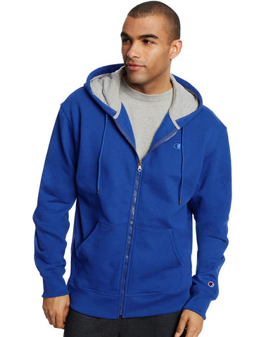 Champion Men`s Powerblend Fleece Full Zip Jacket