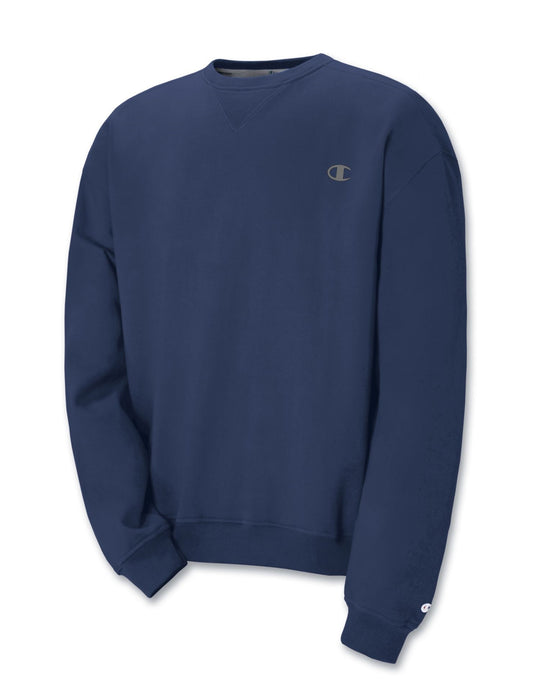 Champion Super Fleece Men`s Sweatshirt with Small Embroidered C Logo