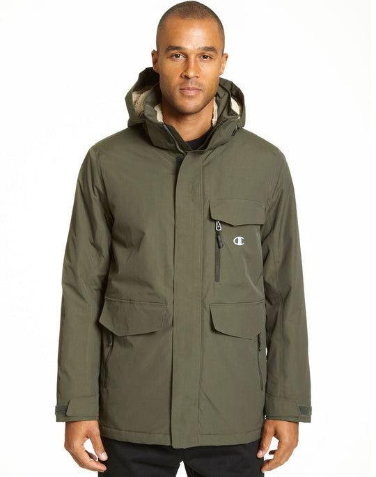 Champion Men`s High Performance 2-Layer Jacket With Sherpa Lining