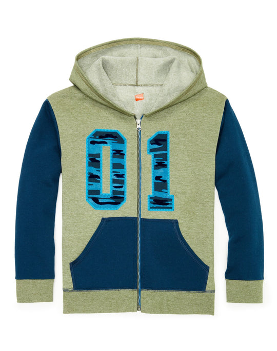 Hanes Boys Graphic Fleece Colorblock Full Zip Hoodie