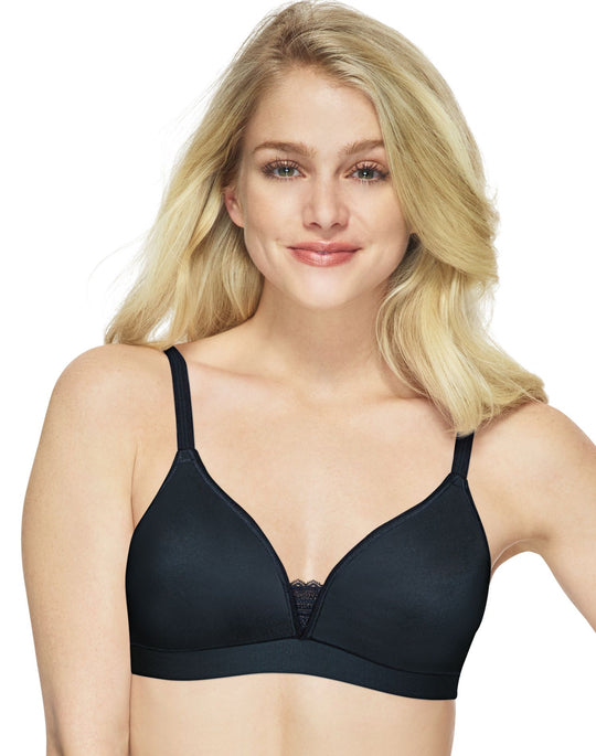 Hanes Womens Ultimate ComfortBlend T-Shirt Unlined Wirefree Bra