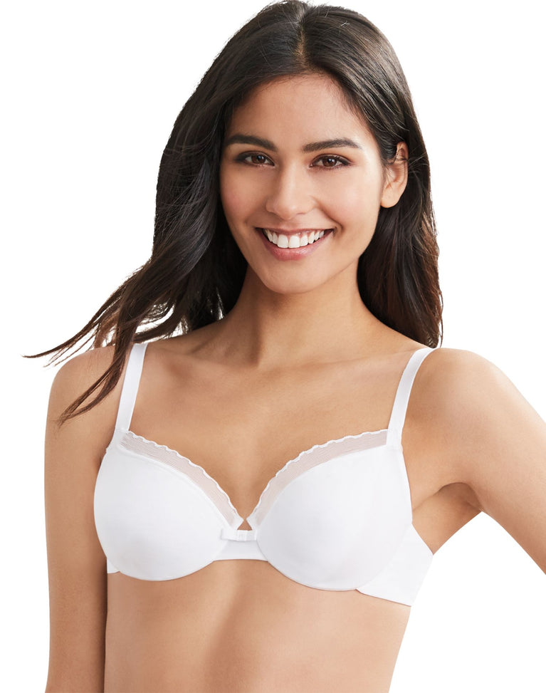 Hanes Womens Ultimate Silky Smooth Comfort Unlined Underwire Bra