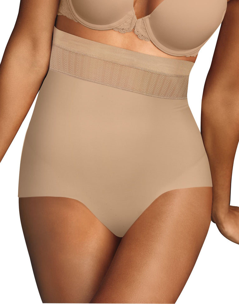 Maidenform Womens Firm Foundations Stay Put High Waist Brief