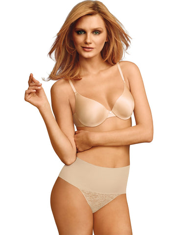 Maidenform Womens Shaping Thong with Cool Comfort