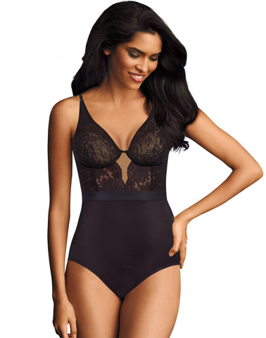 Maidenform Womens Cool Comfort and Anti-Static Body Shaper with Built-In Bra