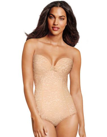 Maidenform Womens Sexy Lace Firm Control Convertible Bodybriefer