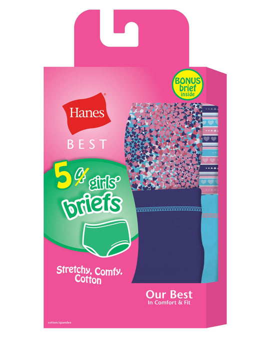 Hanes Girls Best Soft and Cool Briefs 5-Pack