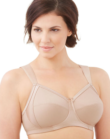 Glamorise Womens Soft Shoulders Everyday Comfort Wirefree Bra