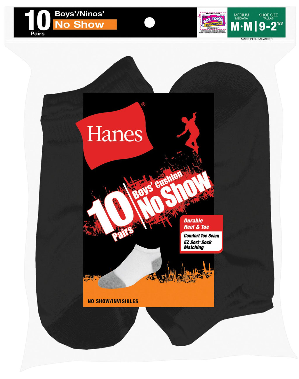 Hanes Boys` EZ Sort Socks 10-Pk - Best Seller!