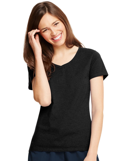 Hanes X-Temp Women`s V-Neck T-Shirt