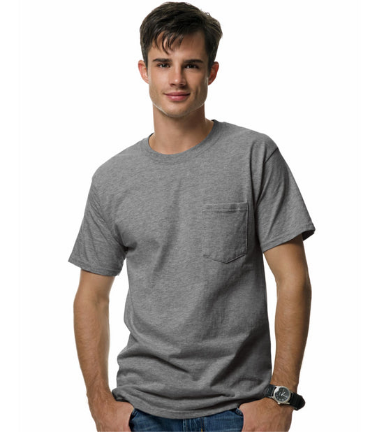 Hanes Beefy-T Adult Pocket T-Shirt
