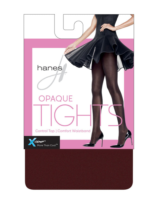 Hanes Womens X-Temp Opaque Control Top Tights with Comfort Waistband