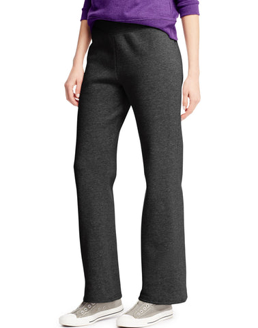 Hanes Women`s ComfortSoft EcoSmart Open Leg Fleece Sweatpants