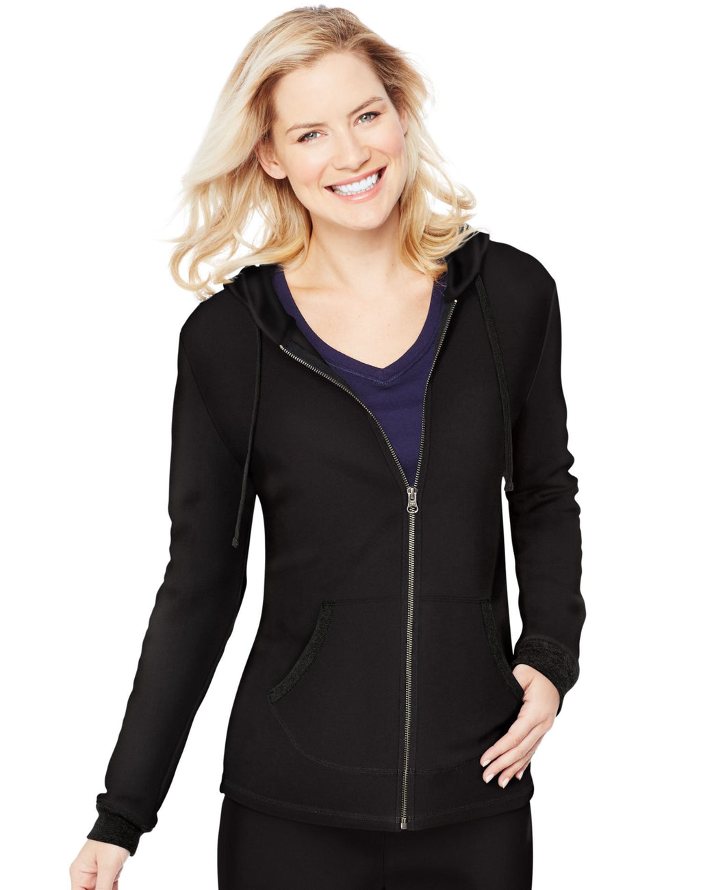 Hanes Womens French Terry Zip Hoodie