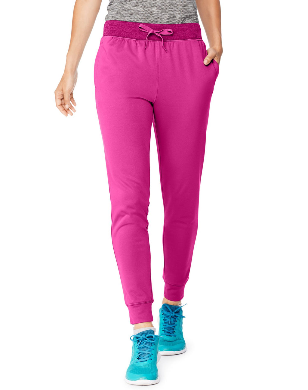 Hanes Womens Sport™ Performance Fleece Jogger Pants With Pockets