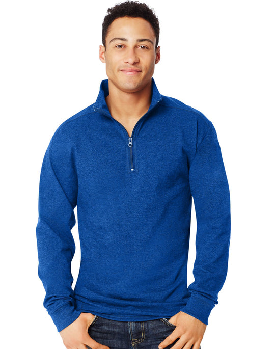 Hanes Men`s X-Temp 1/4 Zip Long-Sleeve T-Shirt