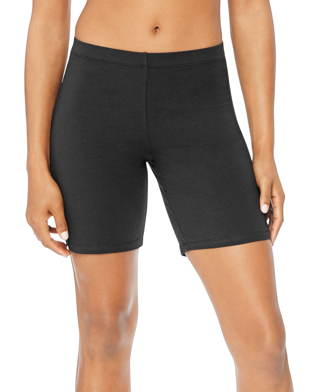 Hanes Women`s Stretch Jersey Bike Shorts