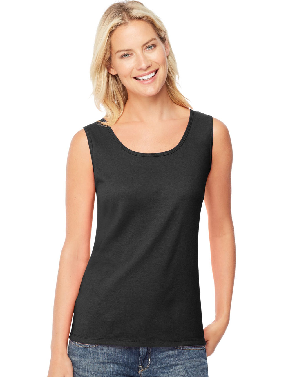 Hanes Women`s Mini-Ribbed Cotton Tank