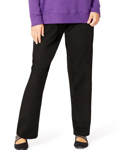Just My Size Women`s EcoSmart Fleece Open-Hem Sweatpants, Petite Length