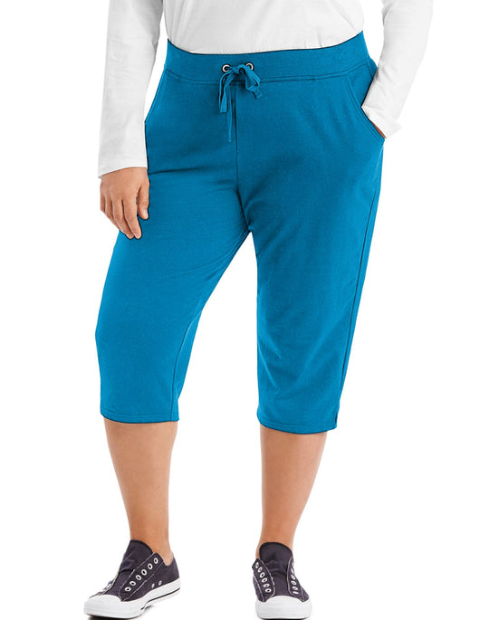 Just My Size Womens French Terry Capris