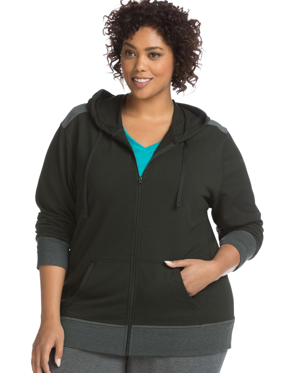 Just My Size Womens Active French Terry Zip Hoodie