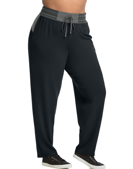 Just My Size Womens Active French Terry Contrast Pants