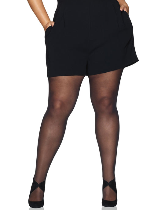 Hanes Womens Curves Control Top Sheer Tights