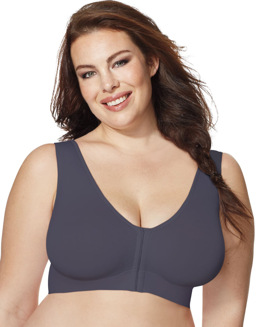 Just My Size Pure Comfort® Women`s Front-Close Wirefree Bra