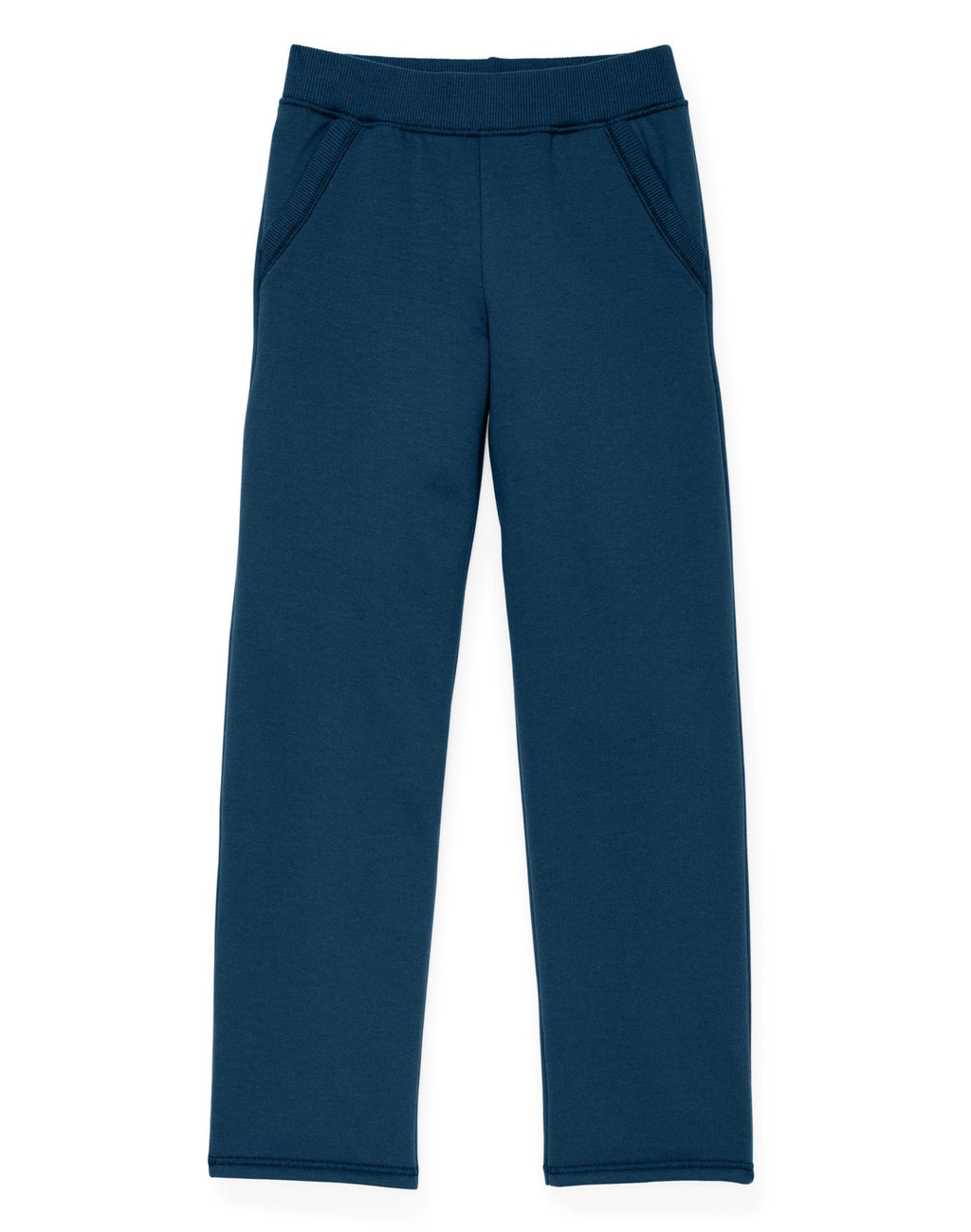 Hanes Girls Fleece Open Leg Sweatpants with Pockets