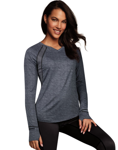 Maidenform Womens Sport Baselayer Active V-Neck Top