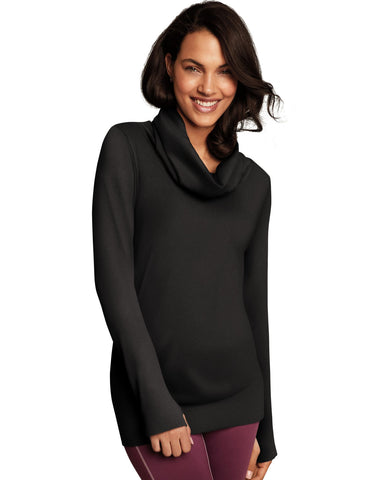 Maidenform Womens Sport Baselayer Thermal Cowl Neck Tunic