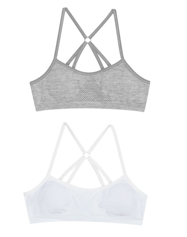 Hanes Girls 2-Pack Molded T-Back