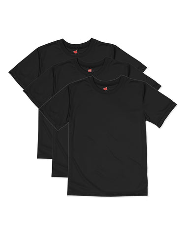 Hanes Boys CoolDri Short Sleeve Tee Value 3-Pack