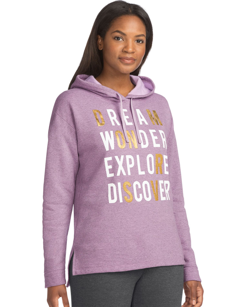 Hanes Womens Graphic Pullover Hoodie