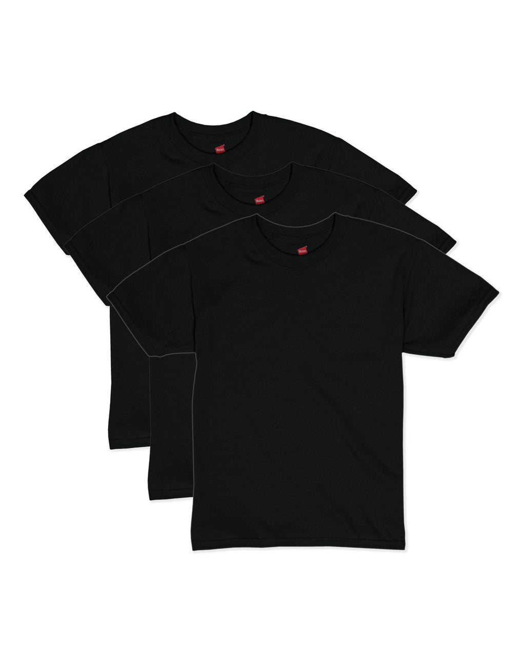 Hanes Boys EcoSmart Short Sleeve Tee Value 3-Pack