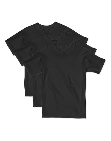 Hanes Boys Beefy Short Sleeve Tee Value 3-Pack