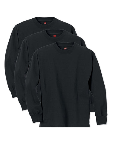 Hanes Boys ComfortSoft Long Sleeve Tee Value 3-Pack